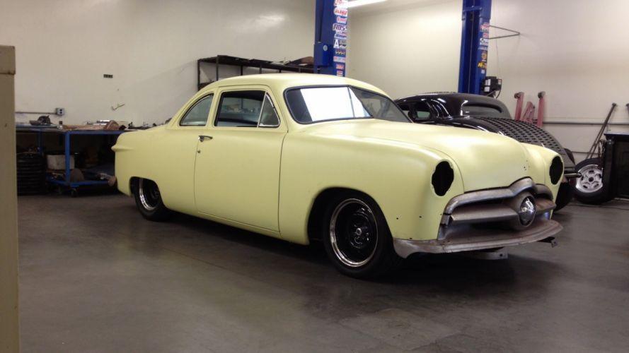 1950 Ford shoebox coupe hot rod rods lowrider custom retro r wallpaper