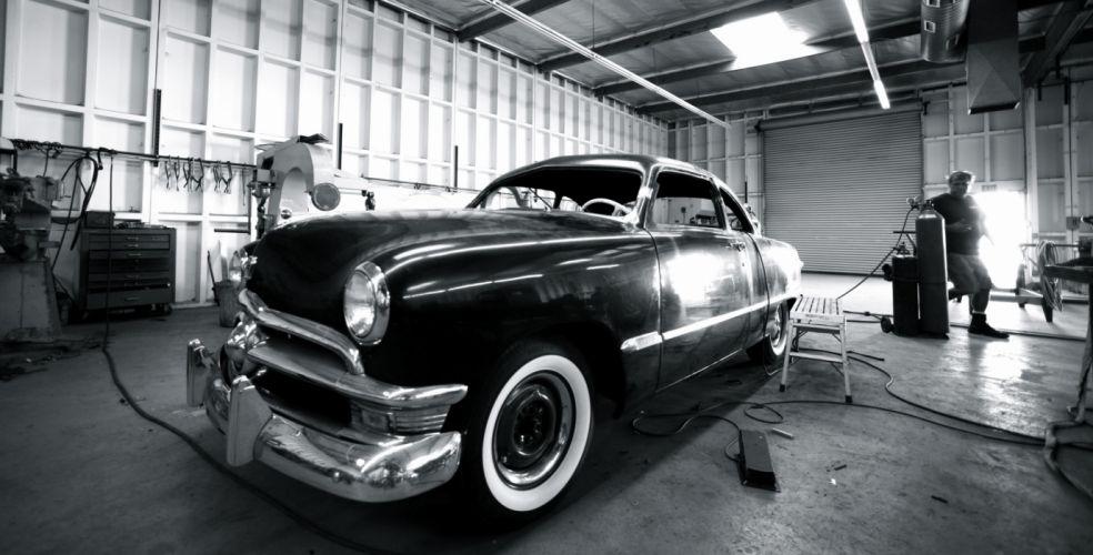 1950 Ford shoebox coupe hot rod rods lowrider custom retro h wallpaper