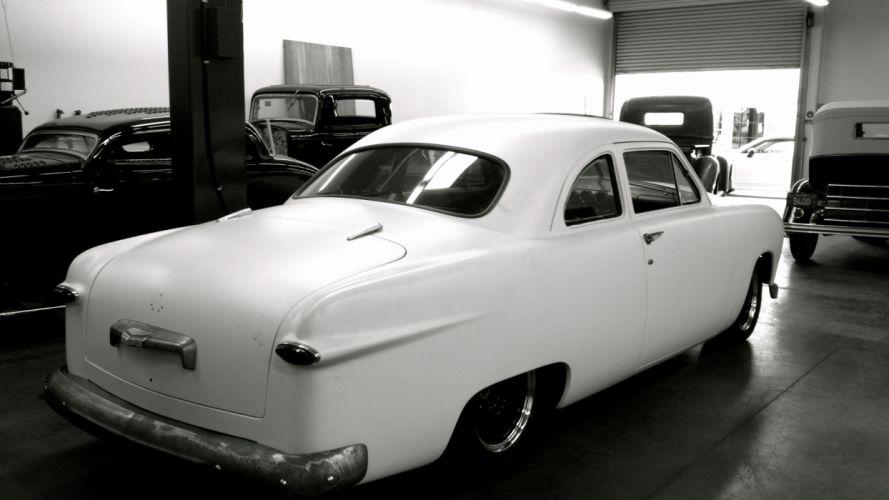 1950 Ford shoebox coupe hot rod rods lowrider custom retro t wallpaper