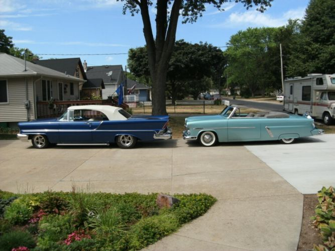 1952 ford convertible sunliner lowrider custom hot rod rods retro d wallpaper