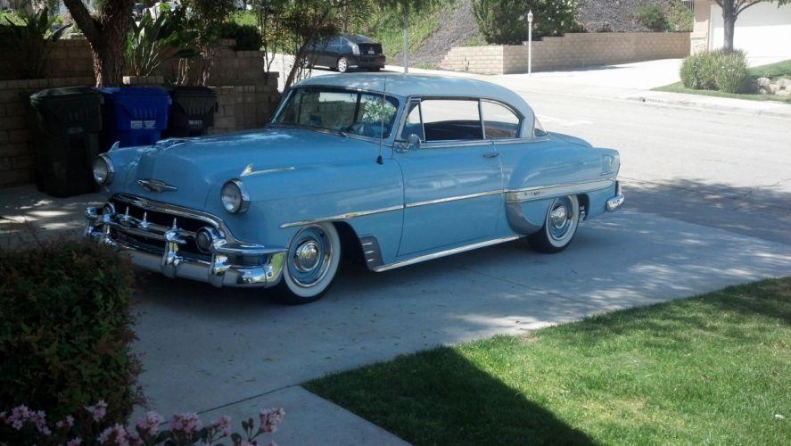 1953 Chevy Bel Air Hardtop Coupe retro custom g wallpaper