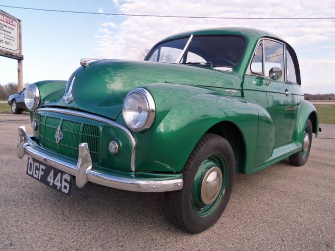 1953 Morris Minor Tudor Saloon retro g wallpaper