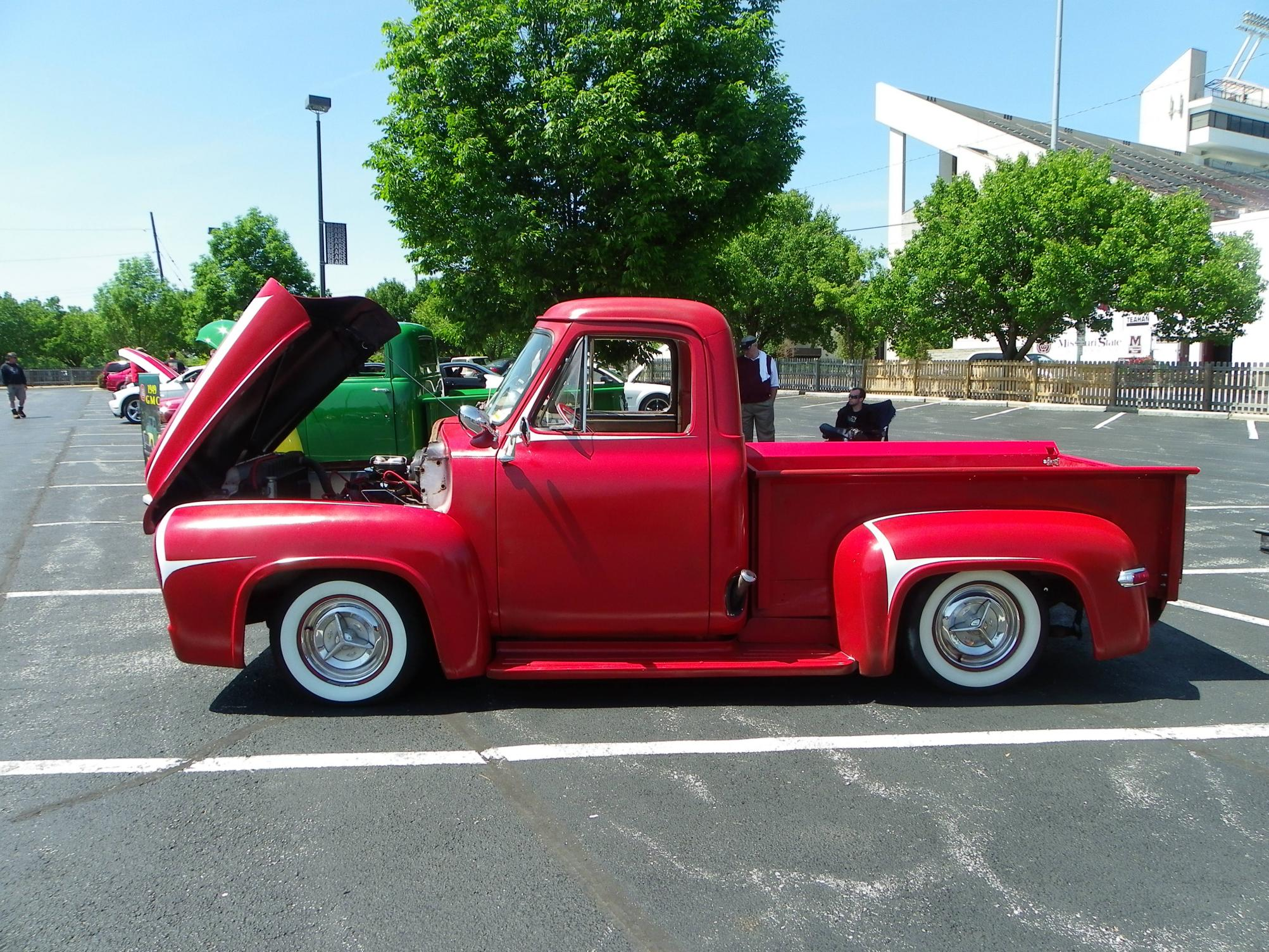 1955 Ford F100 Hot Rod Hd Wallpaper Pictures Stepside Pickup Rods Lowrider Retro Custom G