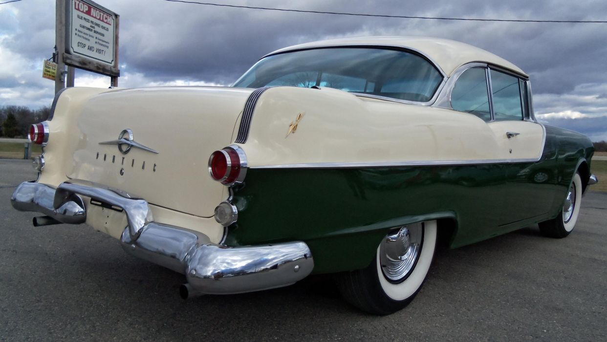 1955 Pontiac Catalina Hardtop Coupe retro  g wallpaper