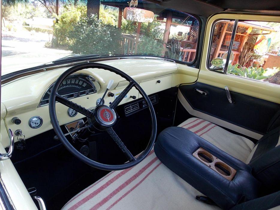 1956 Ford F100 pickup retro hot rod rods interior     j wallpaper