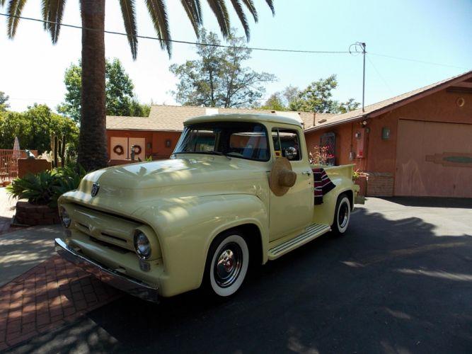1956 Ford F100 pickup retro hot rod rods h wallpaper