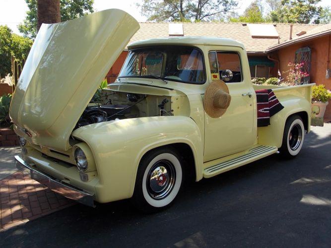 1956 Ford F100 pickup retro hot rod rods t wallpaper