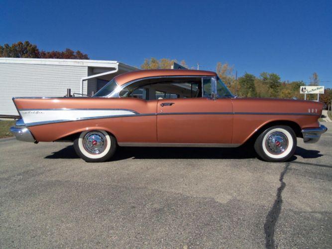 1957 Chevrolet Bel air Sport Coupe retro h wallpaper