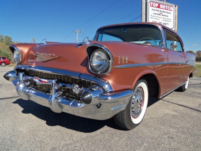 1957 Chevrolet Bel air Sport Coupe retro g wallpaper