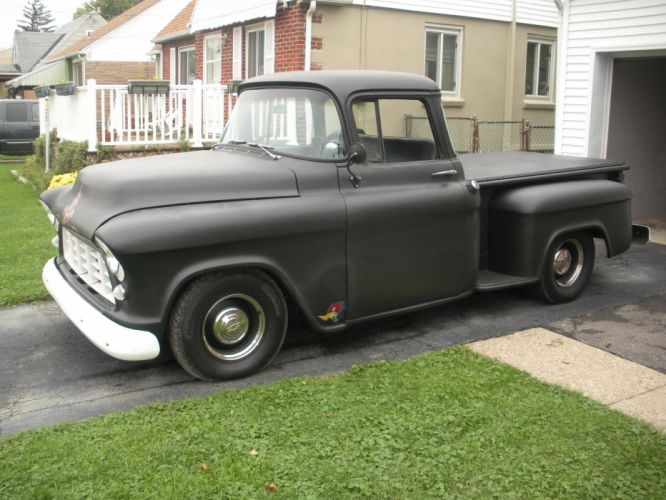 1957 Chevy Stepside hot rod rods classic pickup h wallpaper