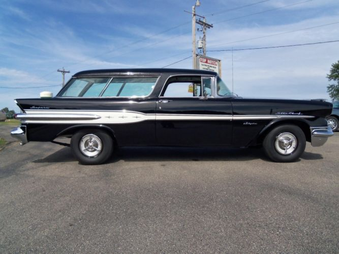 1957 Pontiac Safari StationWagon retro g wallpaper