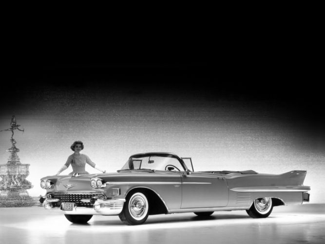 1958 Cadillac Sixty-Two Convertible (6267X) luxury retro g wallpaper