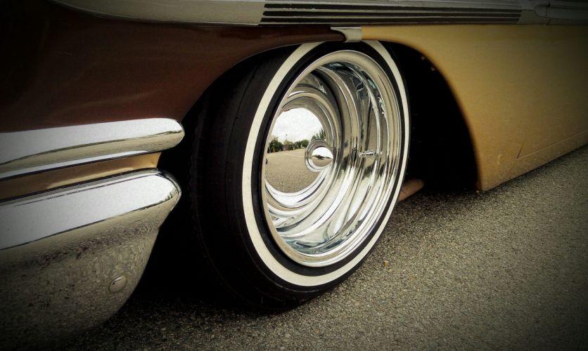 1958 chevrolet bel air lowrider retro custom wheel g wallpaper