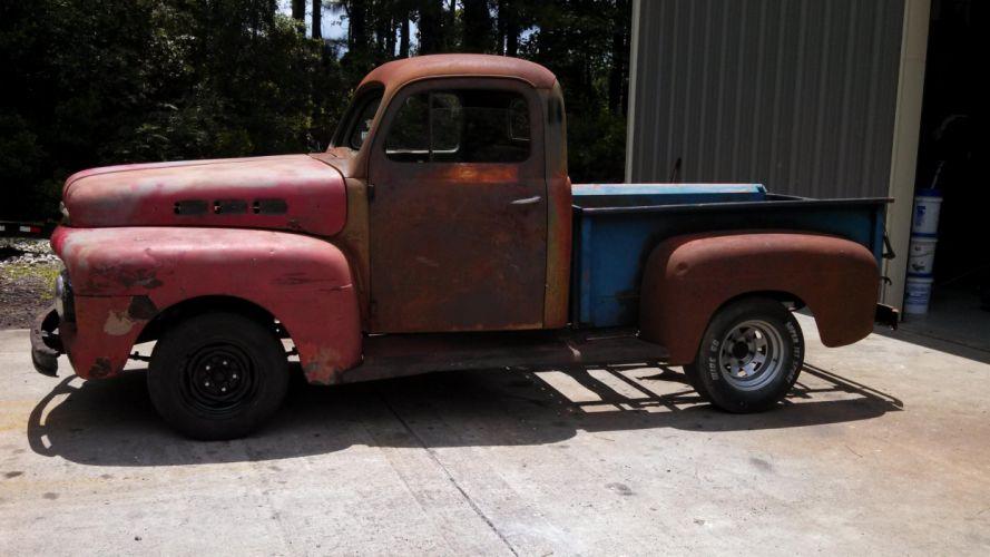 1950 Ford truck hot rod rods retro pickup retro t wallpaper