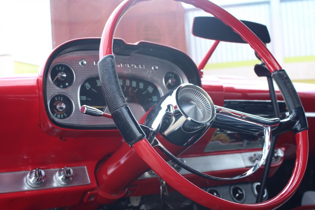 1958 Plymouth Custom hot rod rods retro interior        g_JPG wallpaper