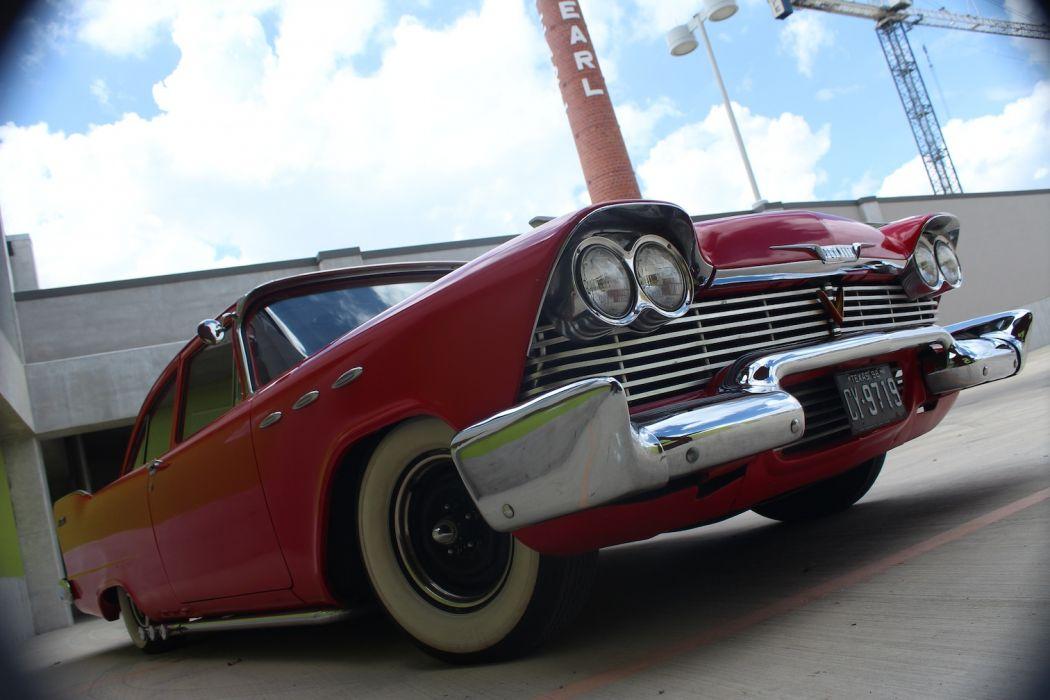 1958 Plymouth Custom hot rod rods retro      f_JPG wallpaper
