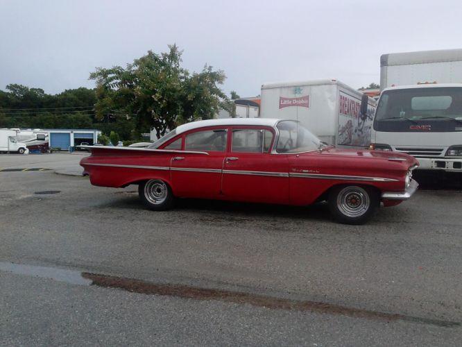 1959 Chevrolet Impala Bel Air hot rod rods classic r wallpaper