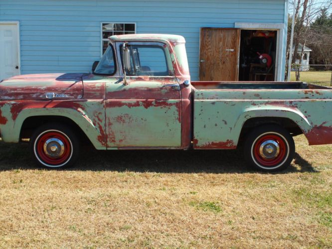 1959 ford f-100 pickup retro j wallpaper