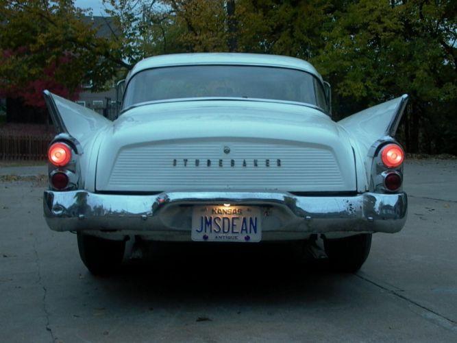 1959 Silver Hawk Studebaker retro t wallpaper