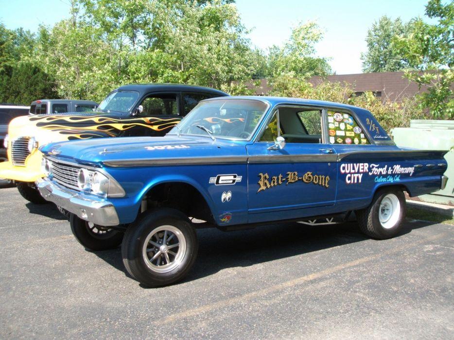 1962 Ford Fairlane 500 Gasser hot rod rods drag racing race  t wallpaper