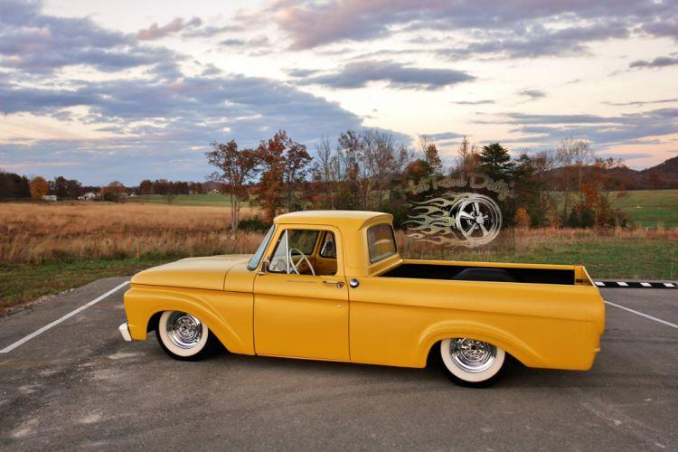 1962 Ford Unibody Kustom Pickup lowrider custom hot rod rods classic g wallpaper