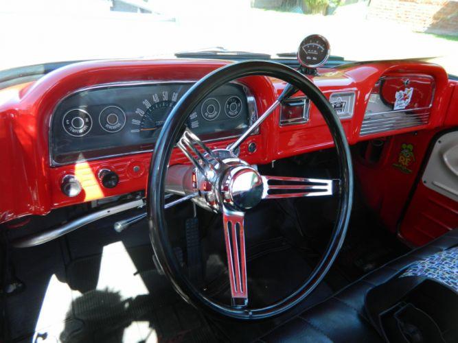 1963 Chevy BFX hot rod rods retro pickup retro interior h wallpaper