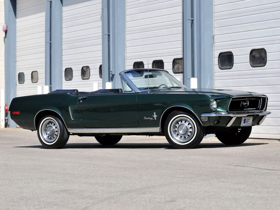 1968 Ford Mustang Convertible (76A) muscle classic         g wallpaper
