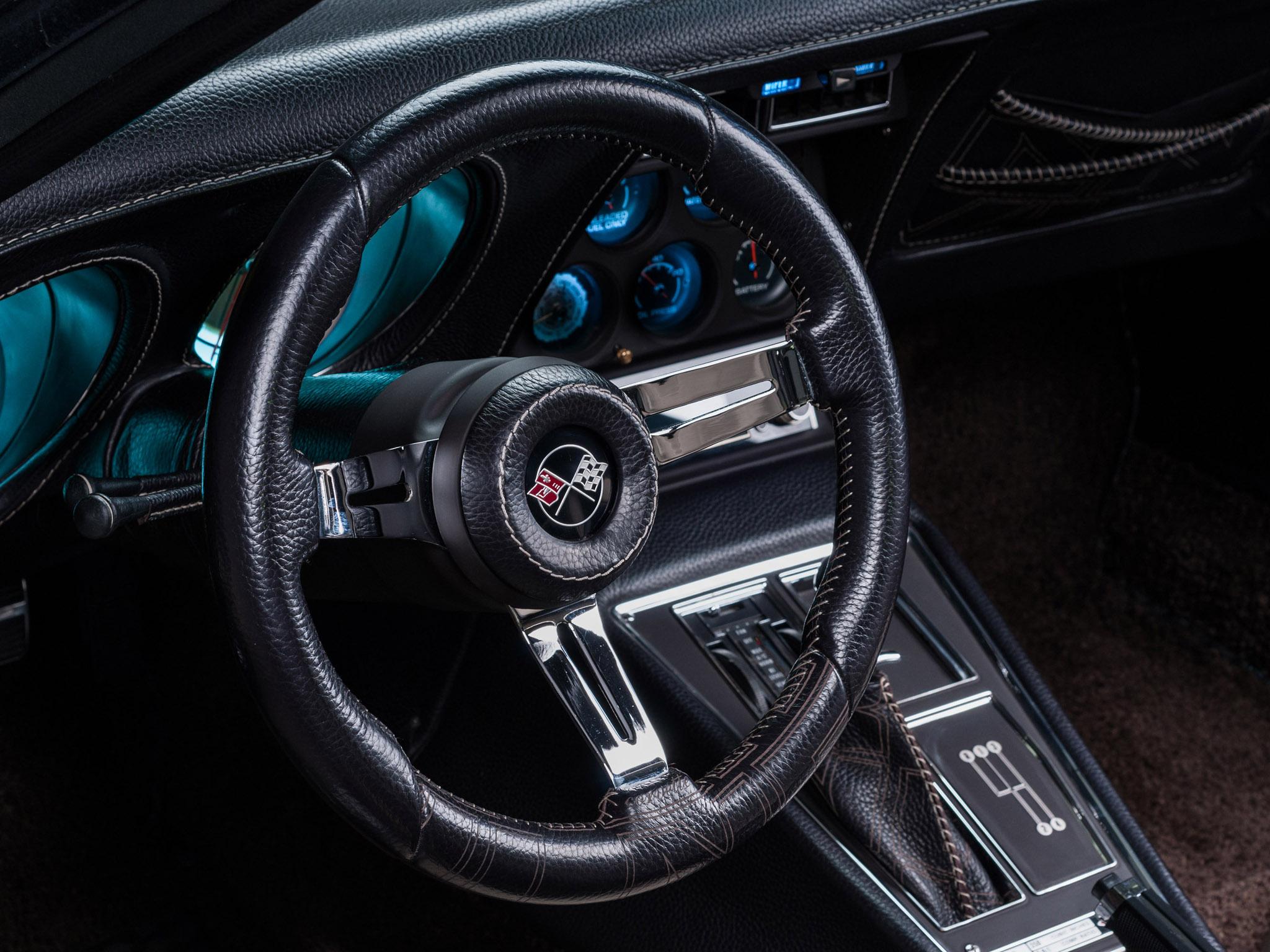 1976 Vilner Chevrolet Corvette Stingray Muscle Supercar Hot Rod Rods Interior D Wallpaper
