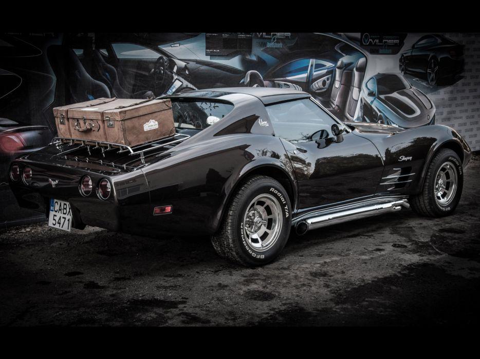 1976 Vilner Chevrolet Corvette Stingray muscle supercar hot rod rods  gg wallpaper
