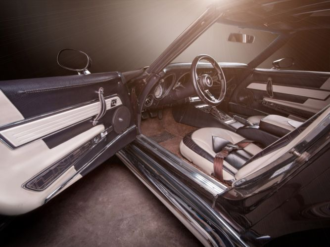 1976 Vilner Chevrolet Corvette Stingray muscle supercar hot rod rods interior gg wallpaper