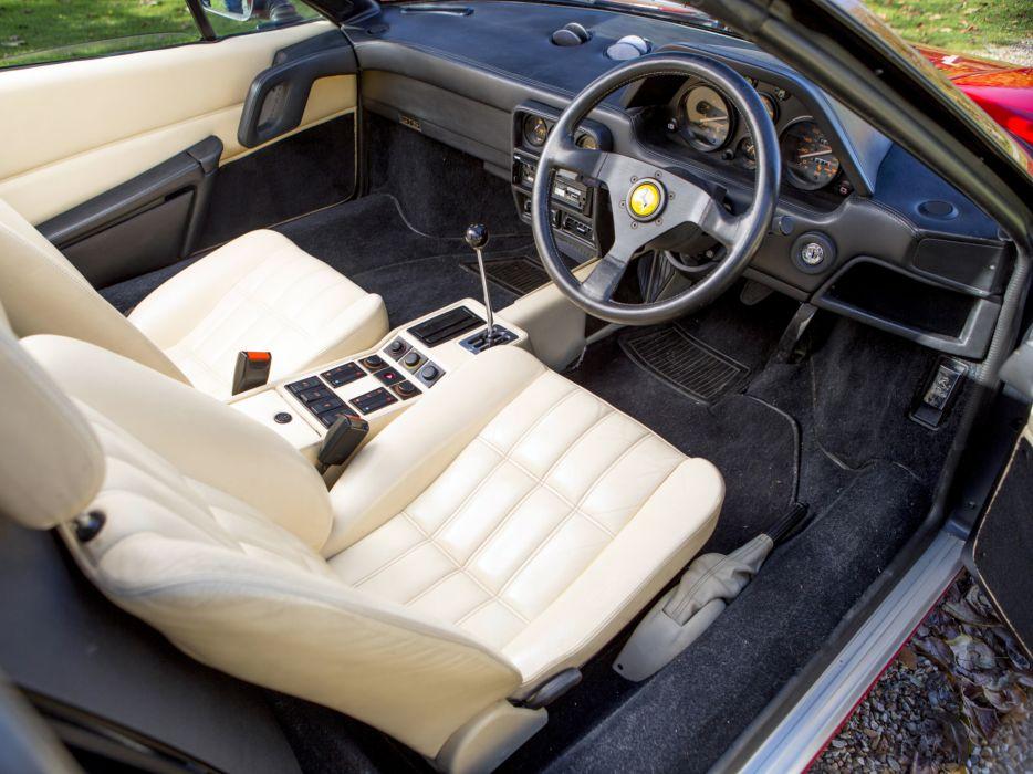1985 Ferrari 328 GTS UK-spec supercar interior        g wallpaper