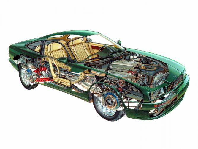 1989 Aston Martin Virage interior engine g wallpaper