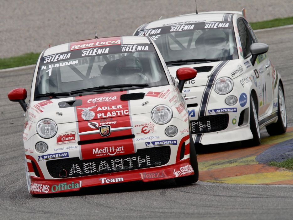 2008 Abarth 500 Assetto Corse race racing    e wallpaper