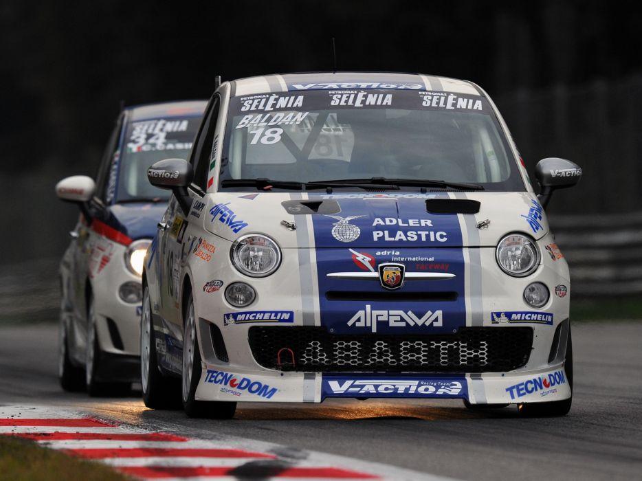 2008 Abarth 500 Assetto Corse race racing    r wallpaper