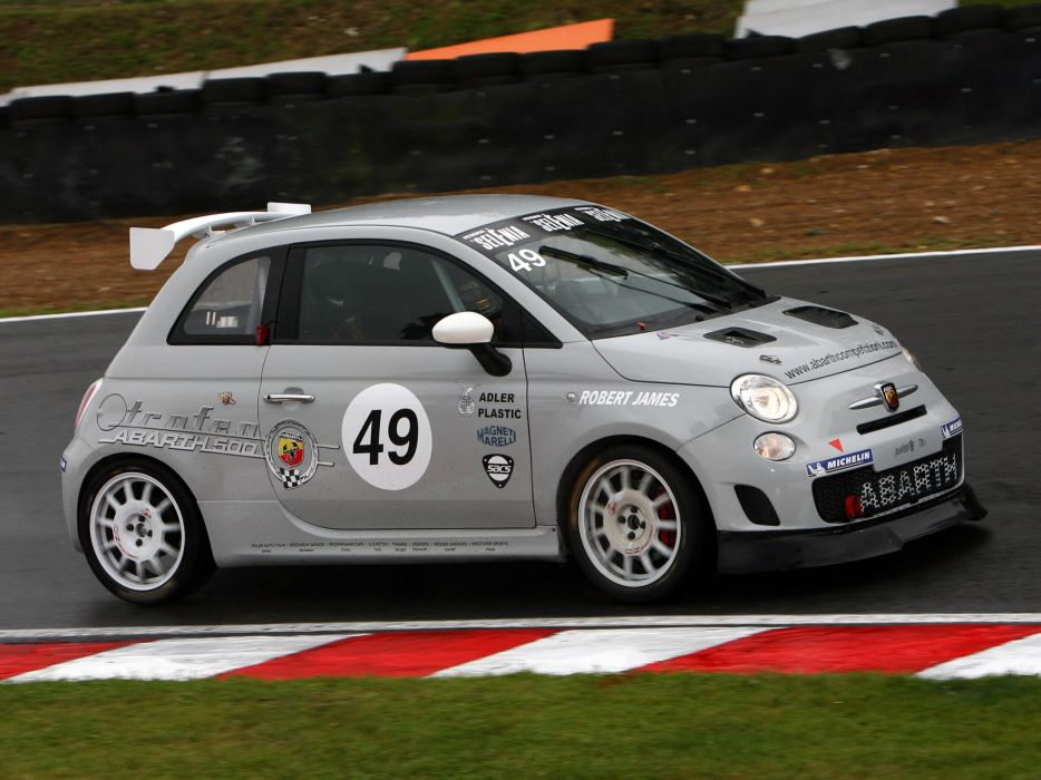 2008 Abarth 500 Assetto Corse race racing  ee wallpaper