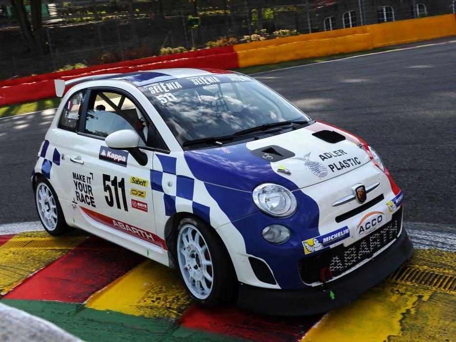 2008 Abarth 500 Assetto Corse race racing  ej wallpaper