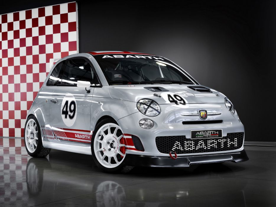 2008 Abarth 500 Assetto Corse race racing  ew wallpaper