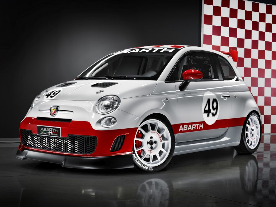 2008 Abarth 500 Assetto Corse race racing y wallpaper