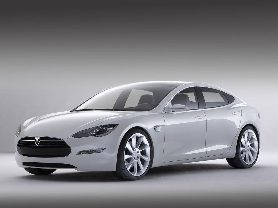 2009 Tesla Model-S Concept supercar    fs wallpaper