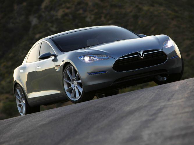 2009 Tesla Model-S Concept supercar k wallpaper