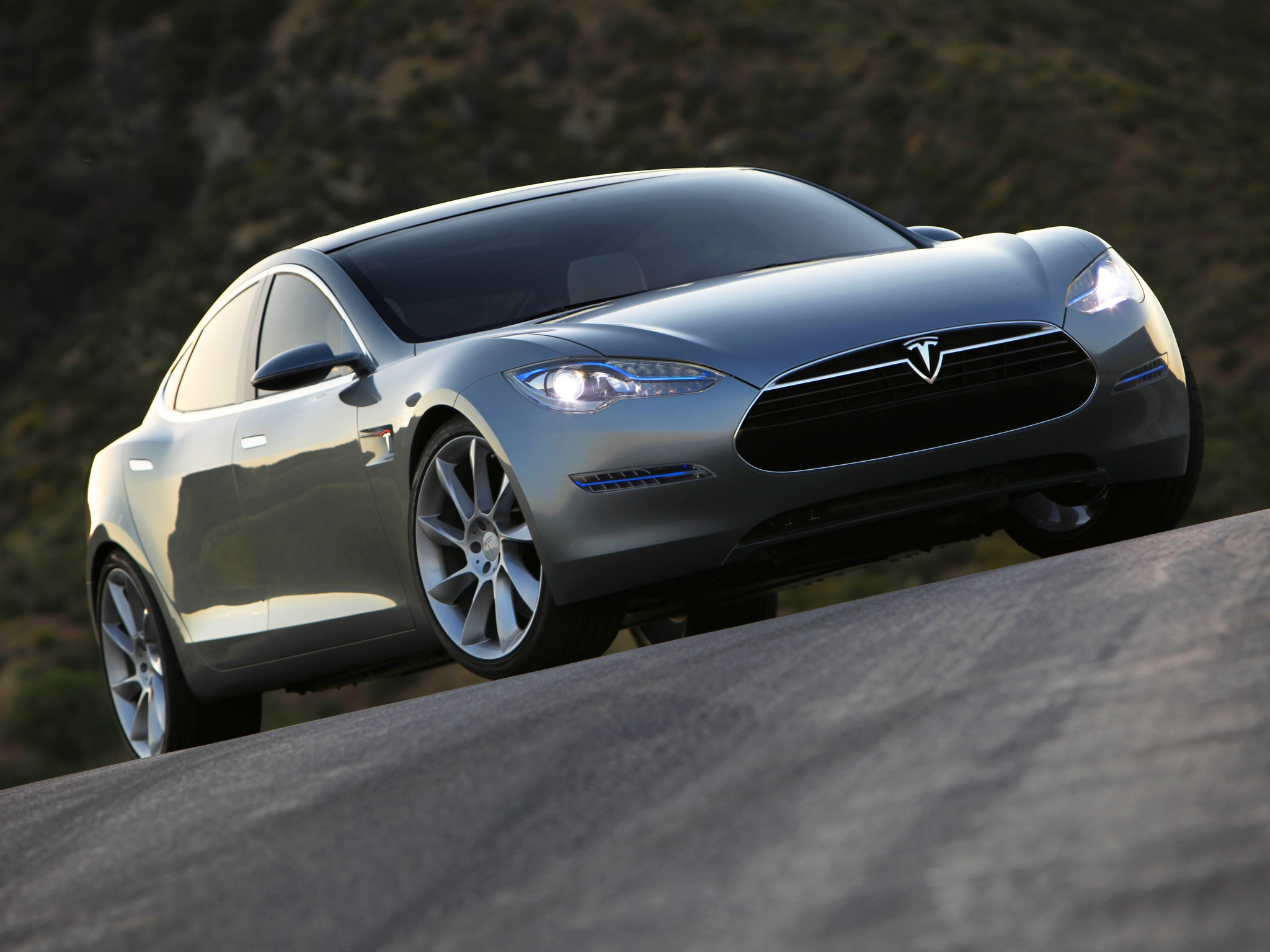 2009 Tesla Model S Concept Supercar K Wallpaper 2048x1536