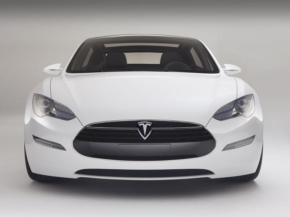 2009 Tesla Model-S Concept supercar  f wallpaper