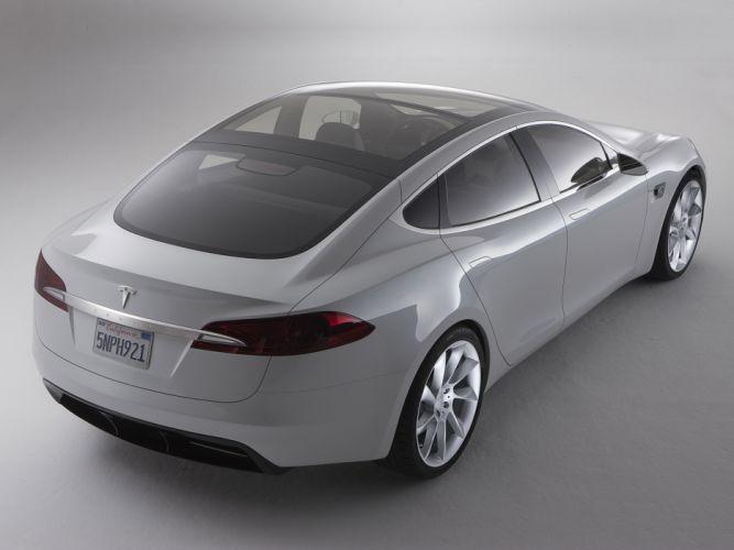 2009 Tesla Model-S Concept supercar fa wallpaper
