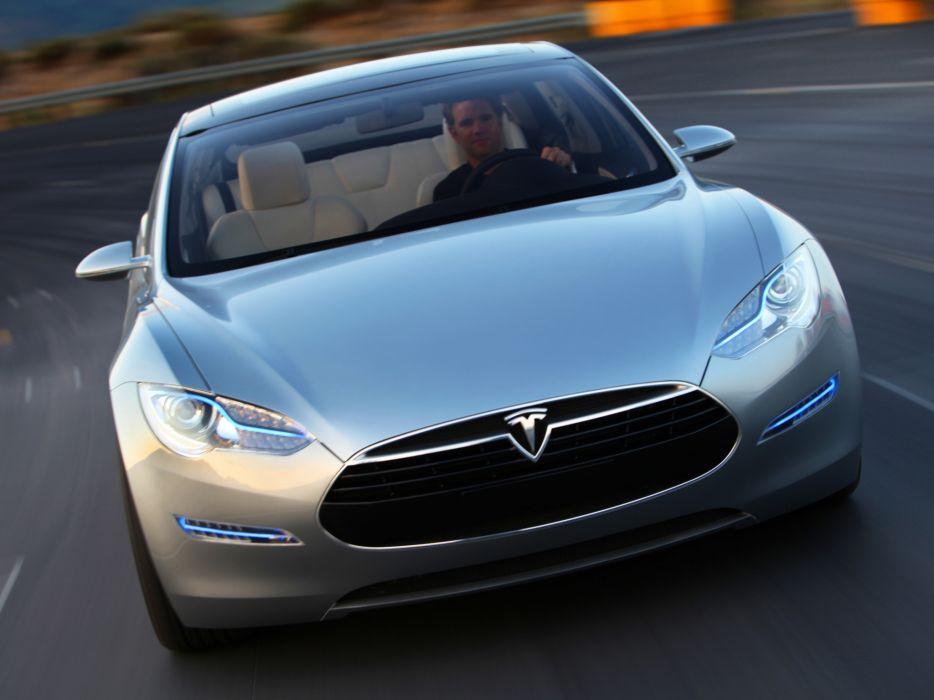 2009 Tesla Model S Concept Supercar V Wallpaper