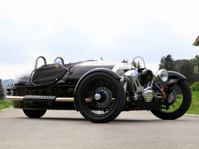 2011 Morgan 3-Wheeler EU-spec supercar motorcycle bike motorbike engine wheel h wallpaper