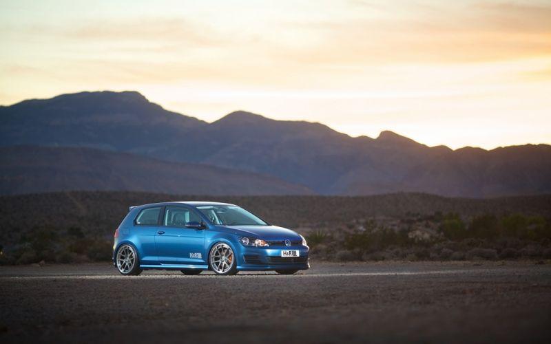 2015 HR-Springs Volkswagen Golf 7 tuning g wallpaper