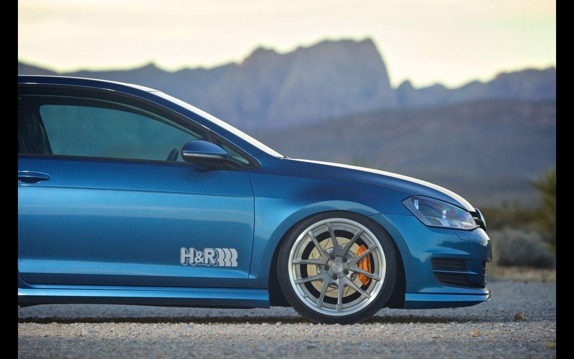 2015 HR-Springs Volkswagen Golf 7 tuning wheel   h wallpaper