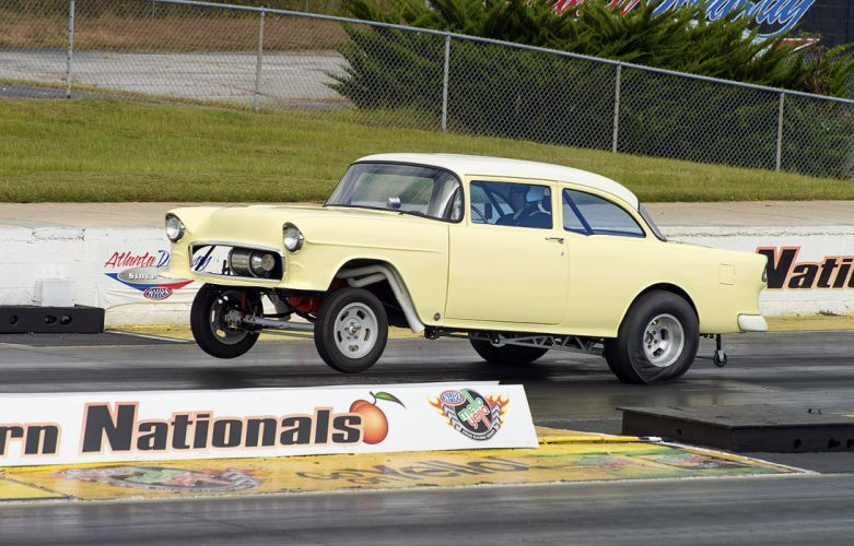 hot rod rods drag racing race 1955 Chevy h wallpaper
