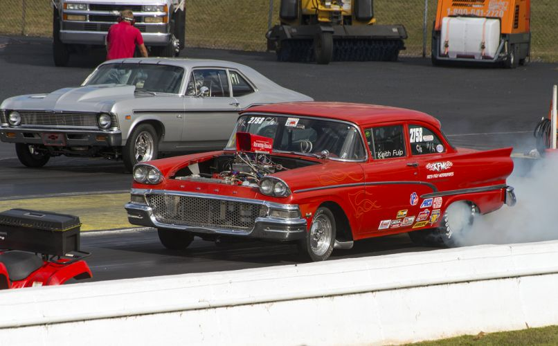 hot rod rods drag racing race 1958 Ford h wallpaper
