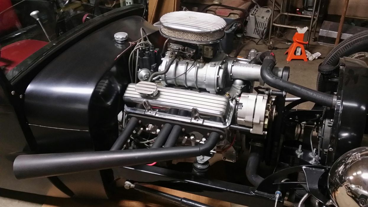 hot rod rods retro 1929 Ford Roadster engine        g wallpaper